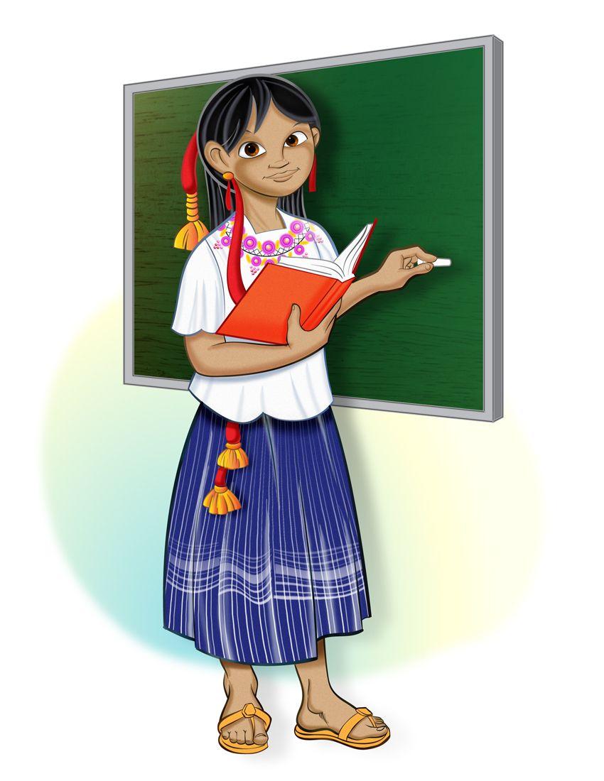 Dibujos Animados Niño Indigenas Mayas Wwwimagenesmycom