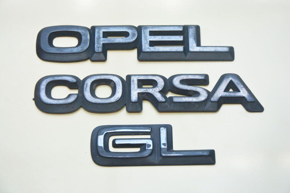 USED OPEL CORSA GL ORIGINAL OPEL CORSA REAR NAMEPLATE SIGN