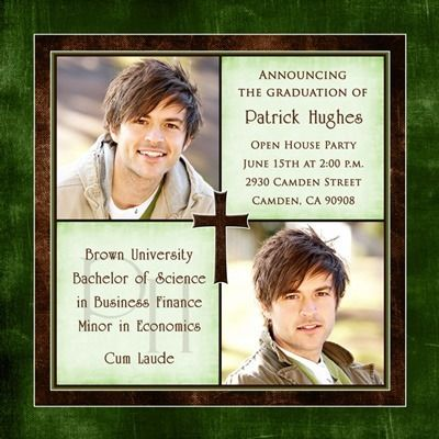 1000 images about Grunge Guy Grads – Religious Graduation Invitations