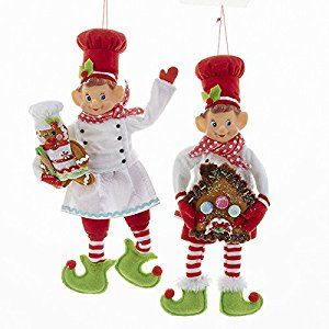 Amazon Com Kurt Adler 12 Quot Stuffed Elf Chef With Gingerbread2 Assorted Home Amp Kitchen Christmas Elf Christmas Ornaments Christmas Traditions