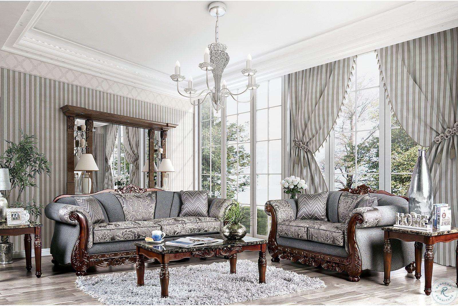 Marvin Pewter Living Room Set Living Room Sets Furniture Living Room Grey