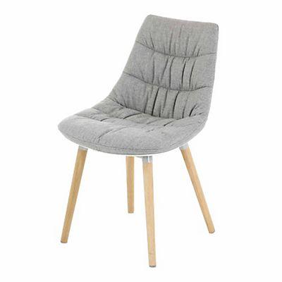 Chaise grise avec piétement en bois design scandinave