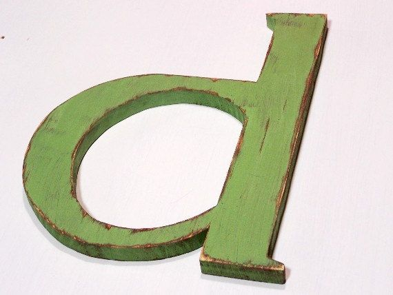 Wooden Letter D Lower Case Wall Hanging Nursery By