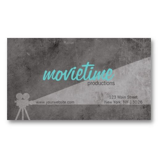 Film Production Company Business Card Zazzle Com Company Business Cards Film Companies Business Cards