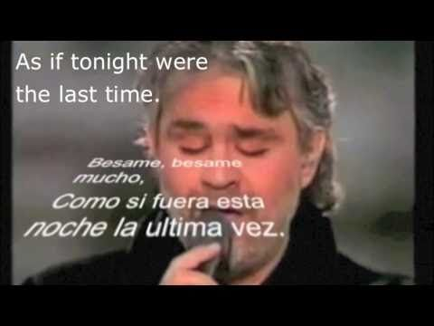 Besame mucho andrea bocelli with spanish lyrics subtitles and besame mucho andrea bocelli with spanish lyrics subtitles and english translation spanish lyrics translated into english learn spanish with a song stopboris Choice Image