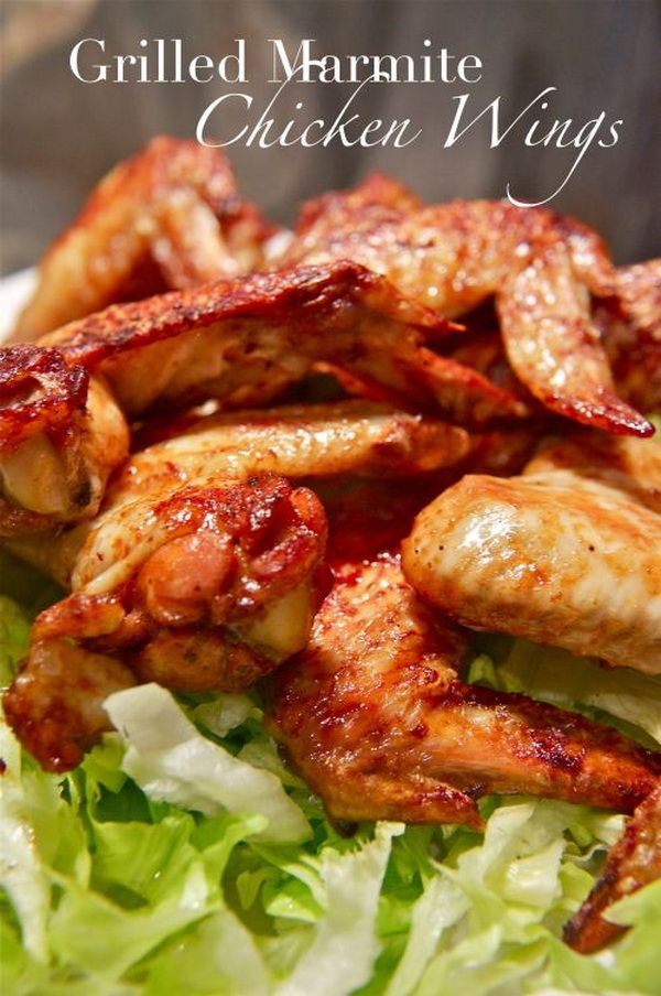 Grilled Marmite Chicken Wings