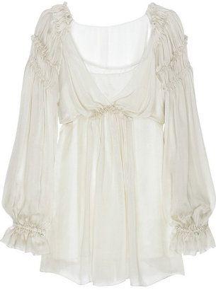 1bfc28ed445854 ShopStyle: Alberta Ferretti Ruffle silk-chiffon blouse | BOHEMIAN ...