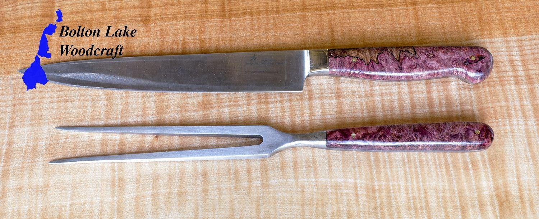 Sloyd knife tiger maple wood handle deepwoods ventures