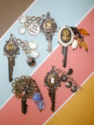 vintage art jewelry deco altered