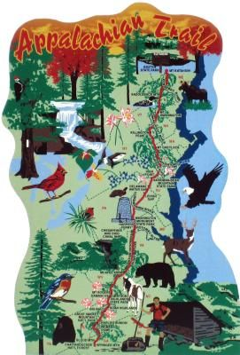 Appalachian Trail Map in 2019 | U.S. Travel and Historical Keepsakes ...