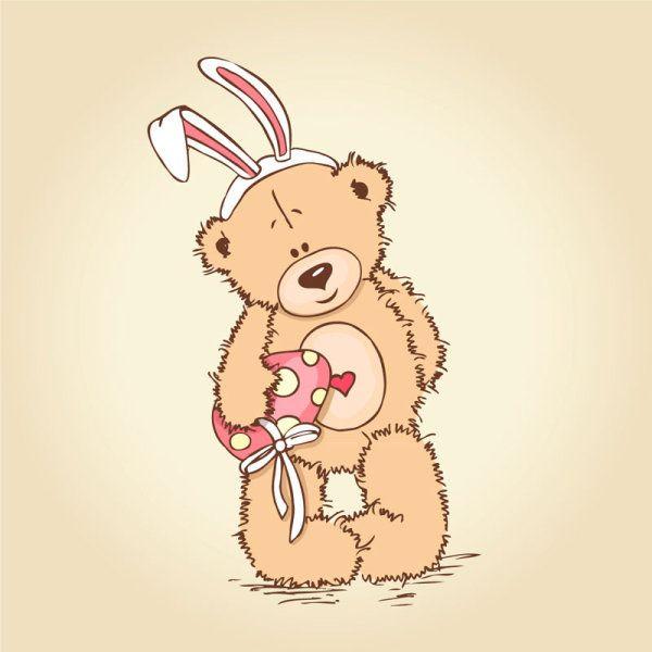 Free Vector Cute Cartoon Little Bear 01 Cartoons Vector Bear Cartoon Vector Free