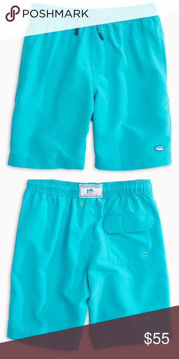64d33dd1 Southern Tide-Boys Swim Trunks-Scuba Blue Whether it's salt water or ...