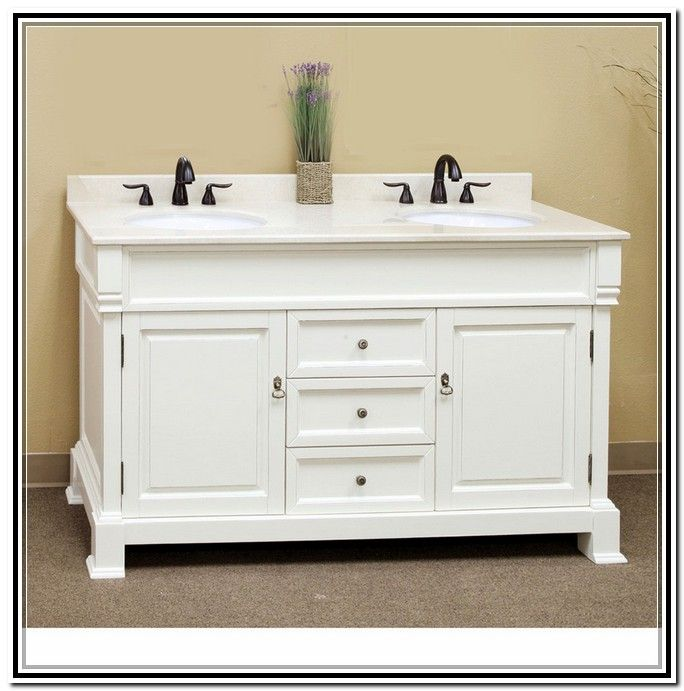 48 inch double sink vanity white bathrooms bathroom - 52 inch bathroom vanity double sink ...