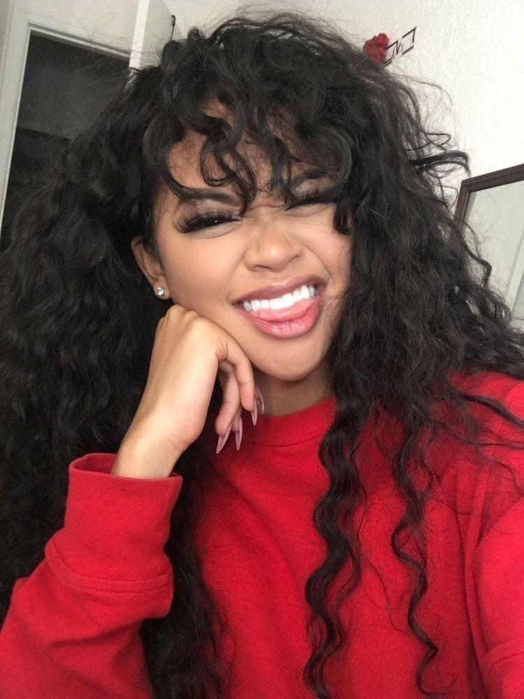 Pinterest Alexaj Baddie In 2019 Curly Hair Styles