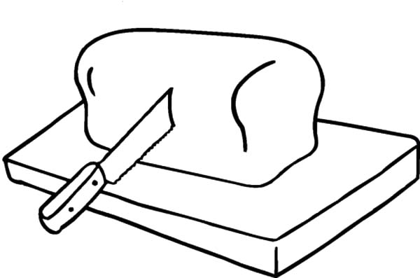 Pin Di Bread Coloring Pages