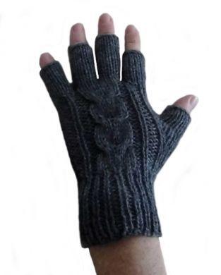 19cc85f5a02132 Dunkelblaue fingerfreie #Damen #Handschuhe aus #Alpakawolle, #Handy # Handschuhe. Warme fingerfreie #Strickhandschuhe aus peruanischer  Alpakawolle.