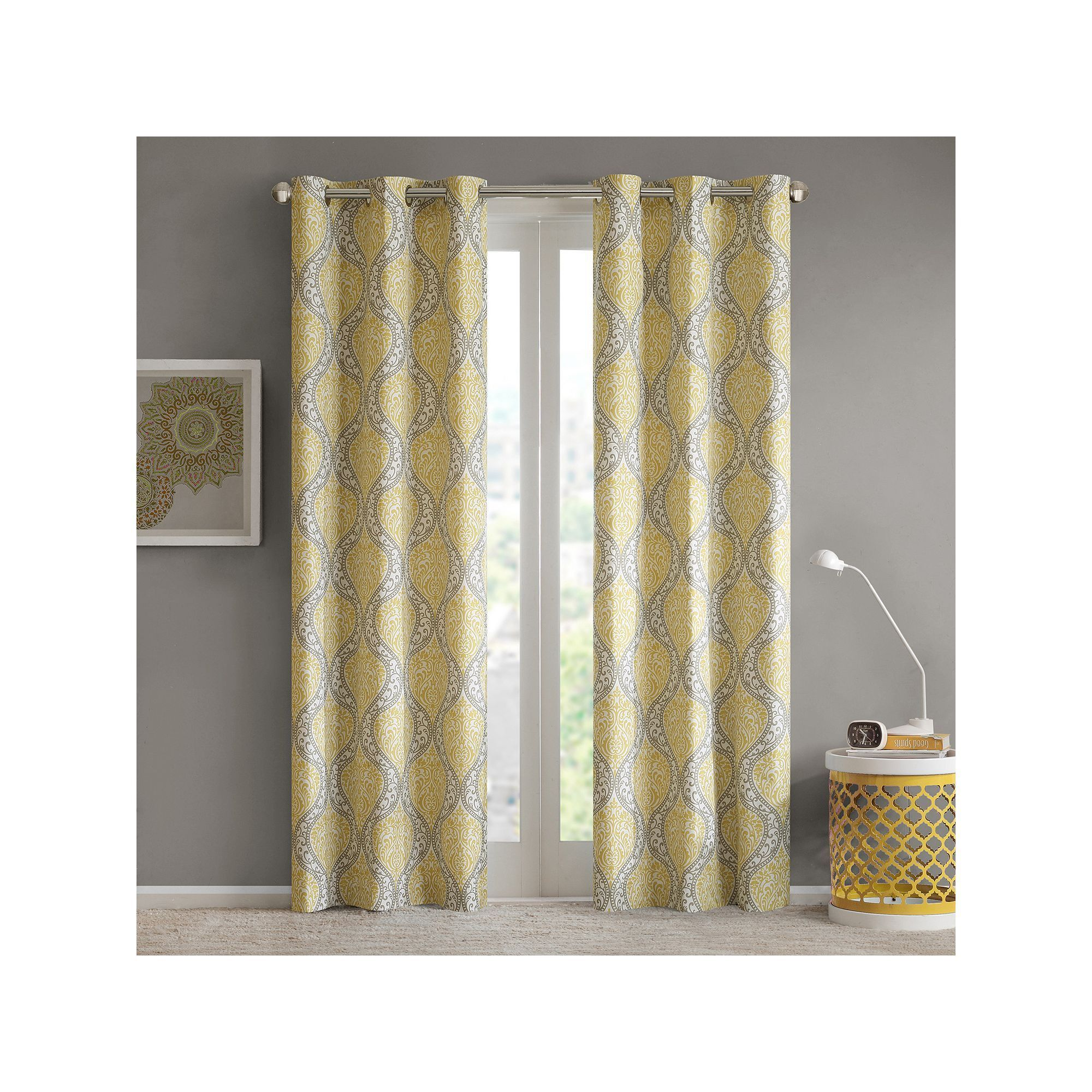 moroccan yellow for blue curtains living enchanting ideas curtain and room printed tile