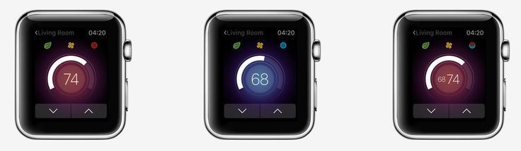 Basic commands for the nest applewatch app app