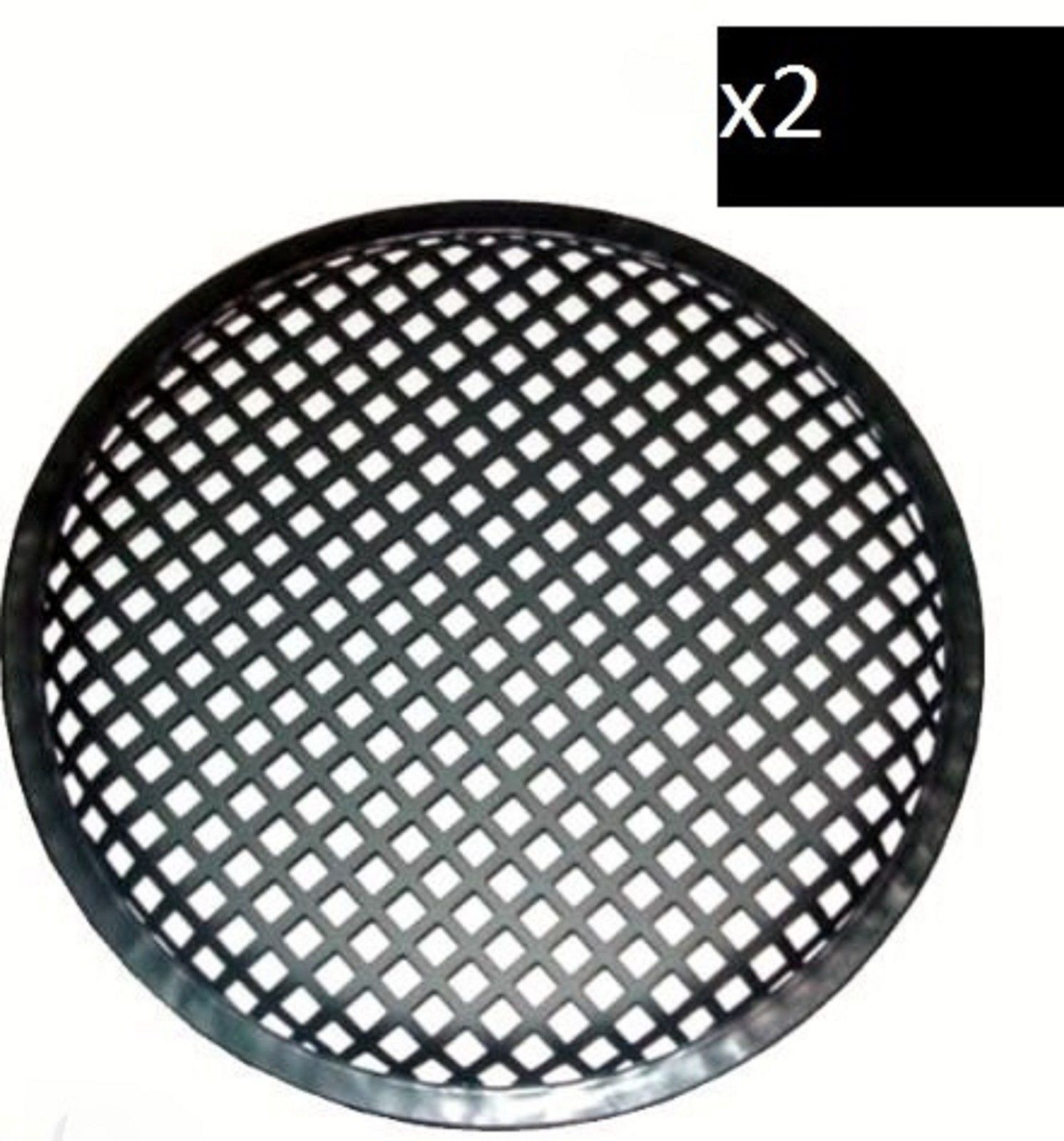 PAIR 12 INCH SUBWOOFER SPEAKER COVERS WAFFLE MESH GRILL GRILLE PROTECT GUARD