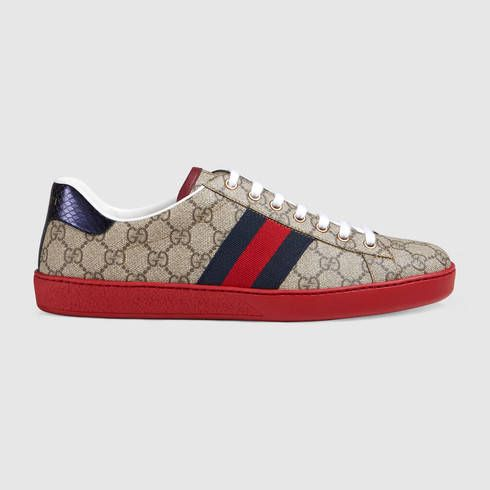 d74105bfe475 GUCCI Ace Gg Supreme Low-Top Sneaker.  gucci  shoes  men s sneakers ...