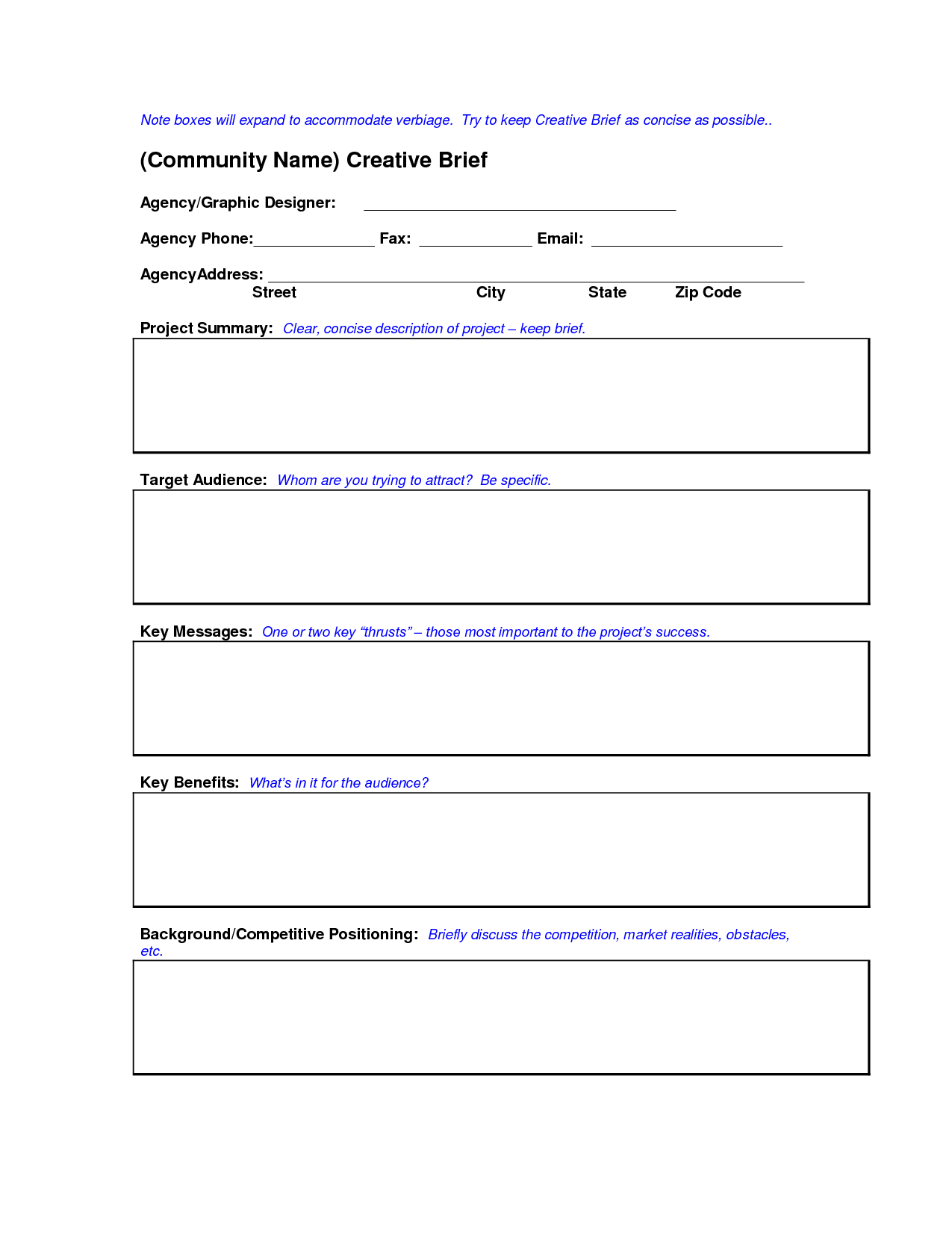 Creative Education Templates Creative Brief Template Doc