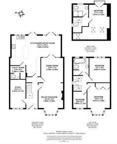 extension plans semi house floor kitchen plan rear detached 1930 side 1930s extensions rightmove result bungalow layout storage garage loft