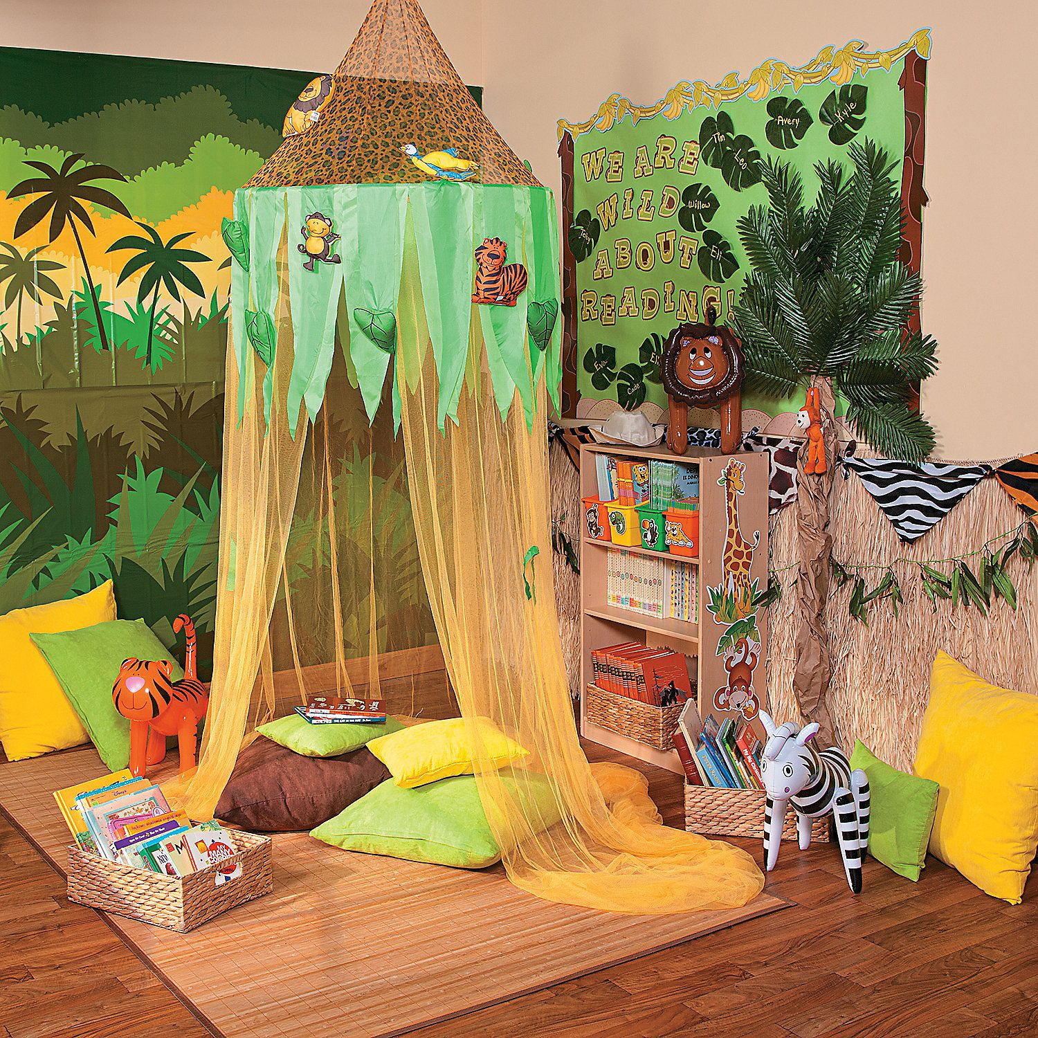 Rainforest Classroom Decoration Ideas ~ Jungle reading corner idea orientaltrading