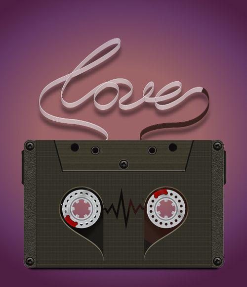 Illustrator Tutorial: Love Cassette Tape   Vector Diary ...