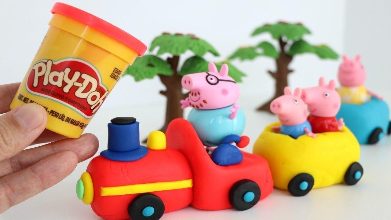 Massinha de Modelar Playdoh fazendo Trenzinho da Familia Peppa pig para .