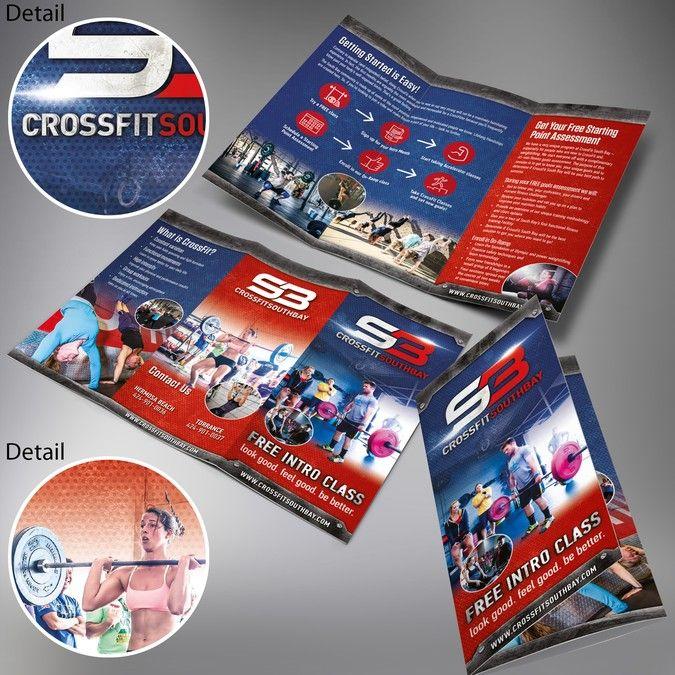 Design a sizzle brochure for an established CrossFit gym by - gym brochure
