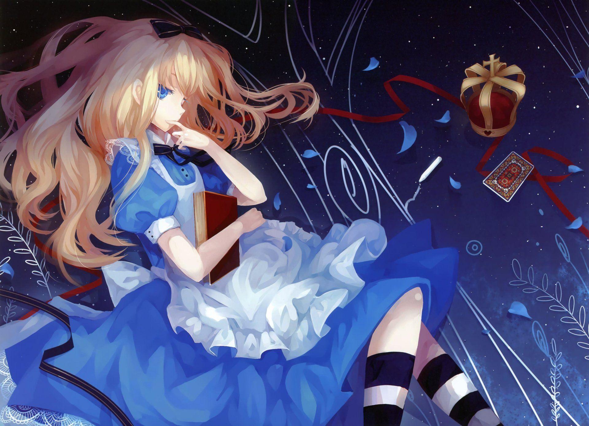 Anime Alicia En El Pais De Las Maravillas Fondo De Pantalla