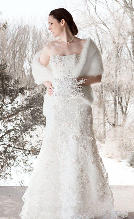 Winter Wedding Snowflake Bridal Bouquet The Bride Pinterest