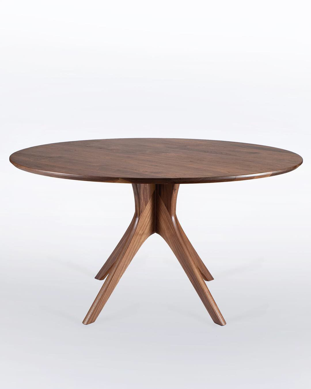 52 Diameter Walnut Dining Table By Nathan Hunter Design