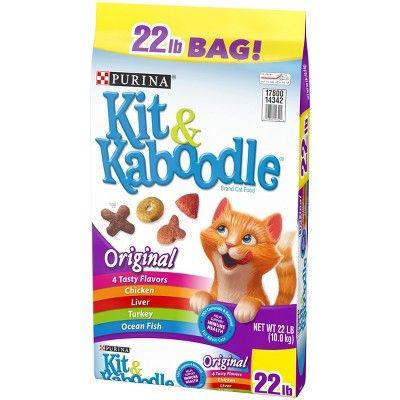 Purina Kit & Kaboodle Original Dry Cat Food 22lbs, Size