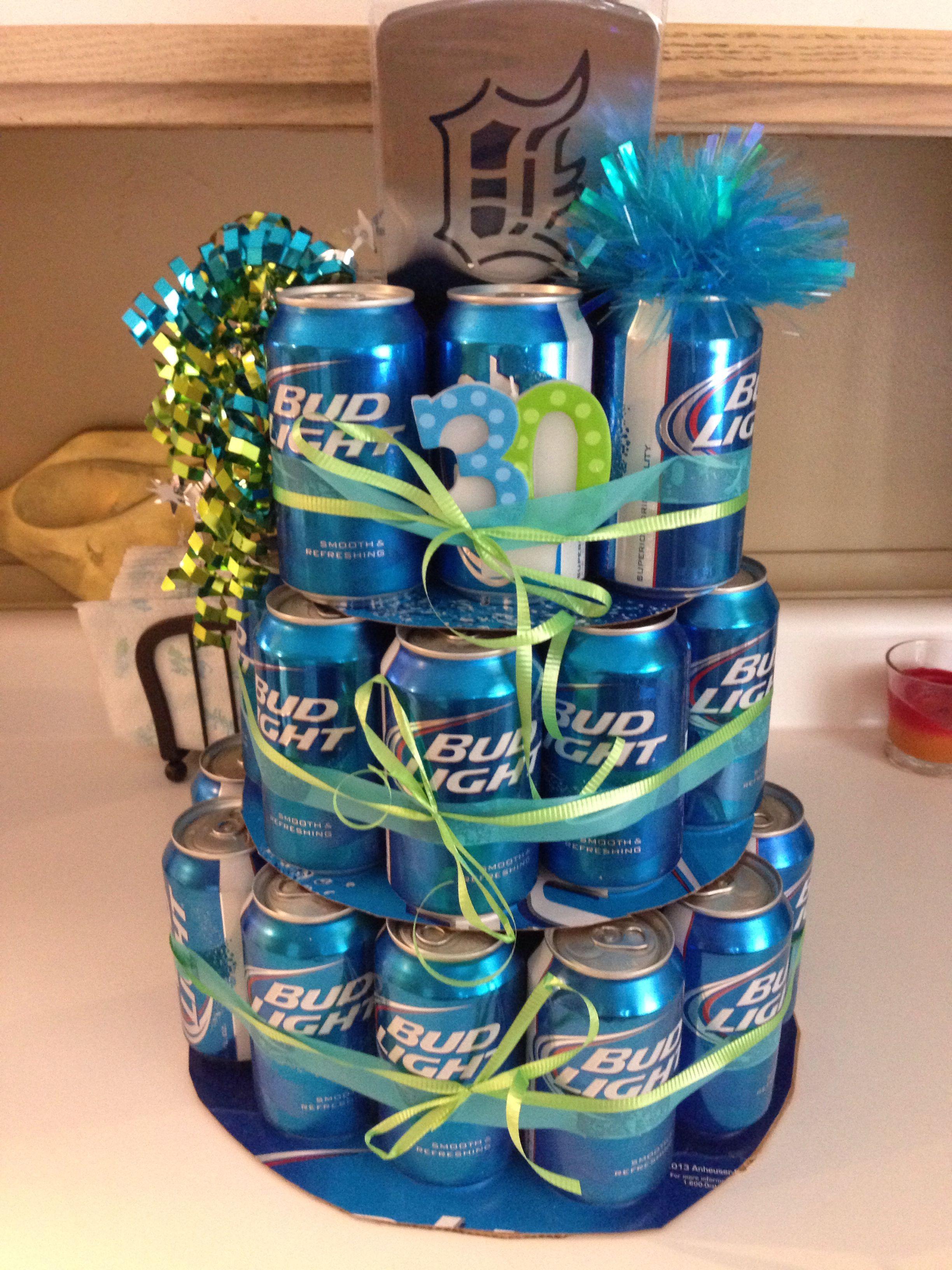 Beer cake for boyfriends 30th bday 12 10 8 tiera