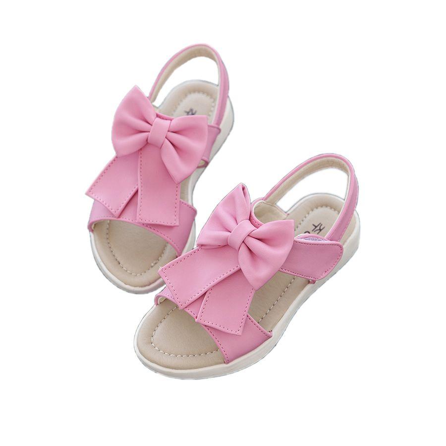 elegant girl sandals shoes cute bowtie princess Summer beach shoes for  1-11yrs girls children