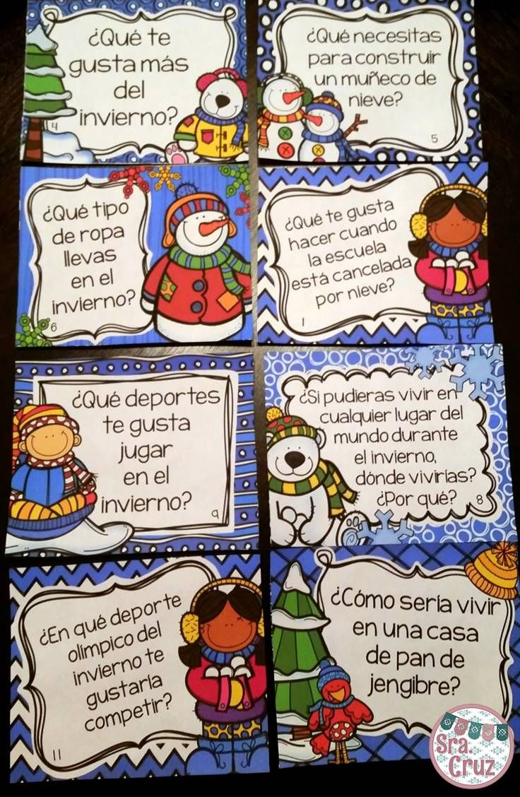 spanish winter writing prompts and task cards | sra. cruz store