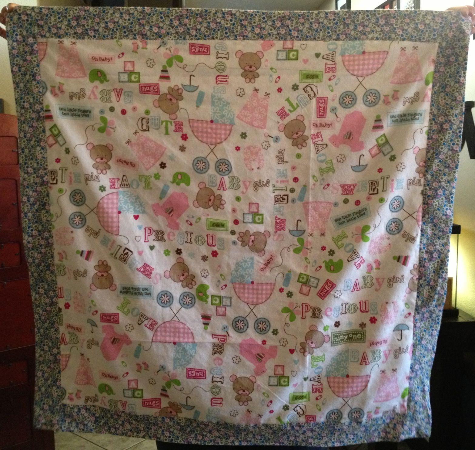 Self-Binding Baby Blanket. Thanks Jenny From Missouri Star