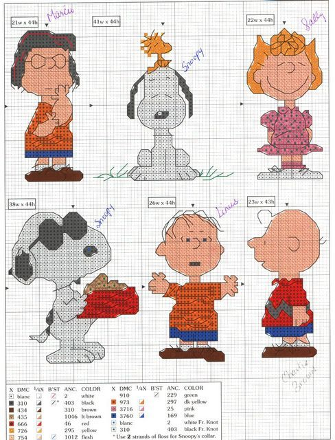 Needle and thread .. let embroidery: Cross Stitch peanuts | Cross ...