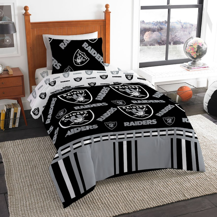 Oakland Raiders Twin Bedding Set By Northwest Comforter Sets