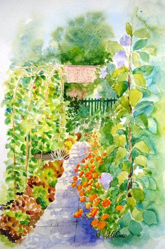 Superb Paintings Of Vegetable Gardens About Marys Vegetable Interior Design Ideas Gentotryabchikinfo