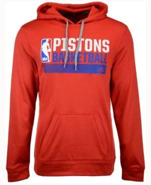 0ab261a2924e adidas Men s Detroit Pistons Icon Status Hoodie - Red XXL
