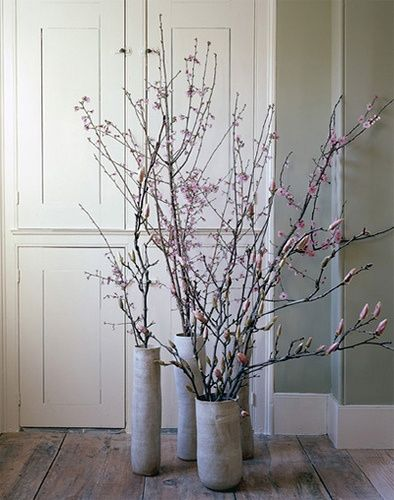 Spring Branches Design Chic Branch Decor Vase With Branches Cherry Blossom Vase