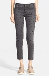 Stella McCartney 'The Skinny' Embroidered Ankle Grazer Jeans