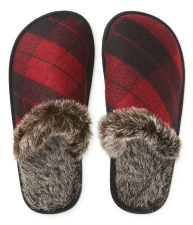 P S From A 233 Ropostale Buffalo Plaid Slippers Guys And