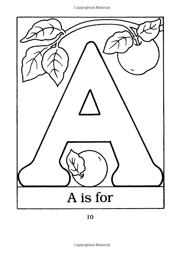 The Little ABC Coloring Book (Dover Little Activity Books): Anna ...