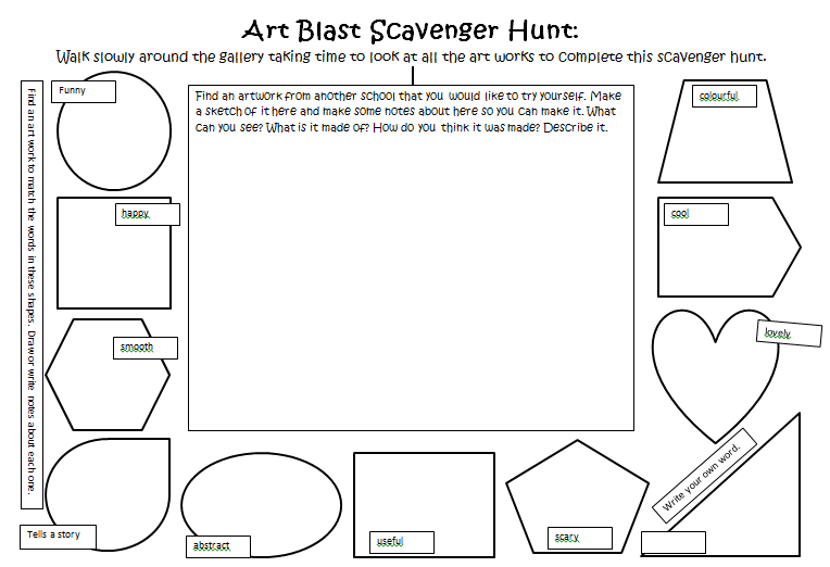 Worksheet I developed for engaging with an art work PD for use