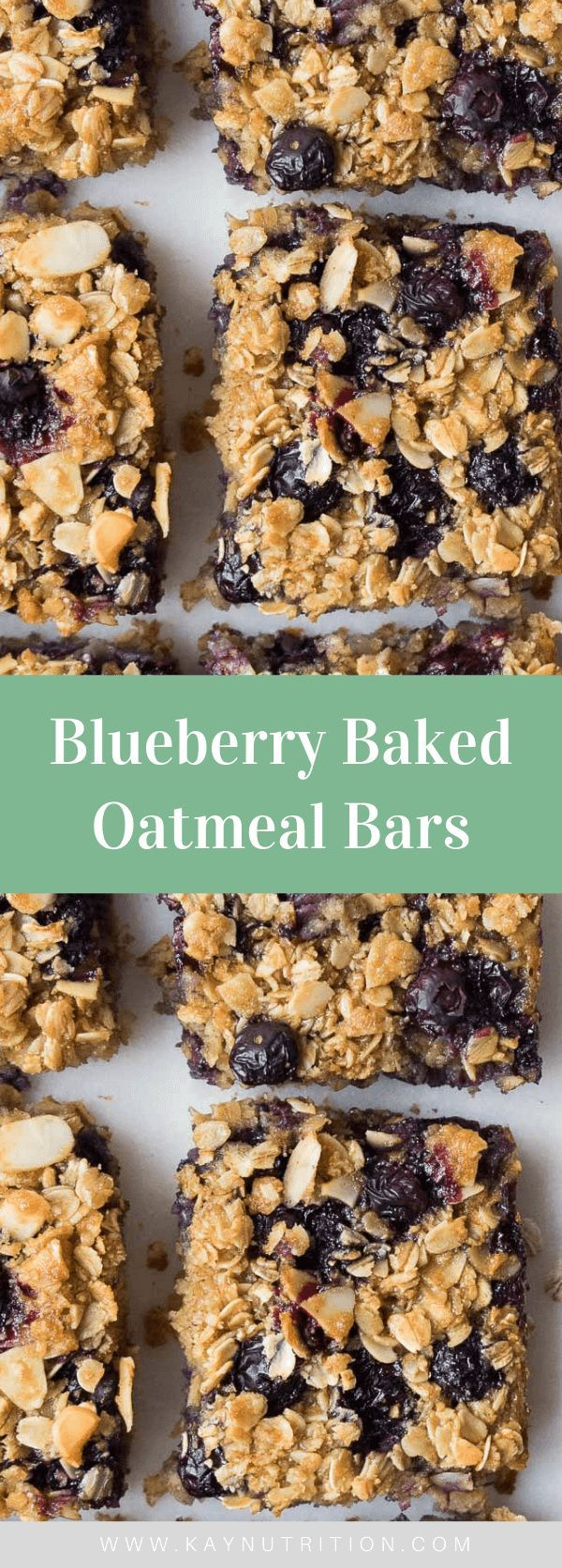 Blueberry Baked Oatmeal Bars