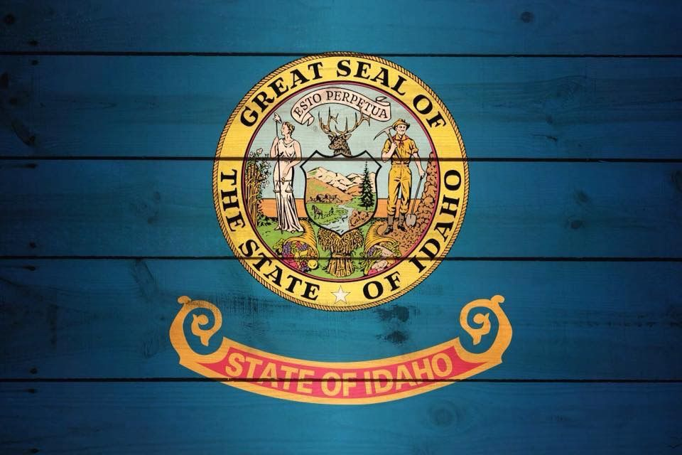 Idaho flag custom license plate license plate idaho state