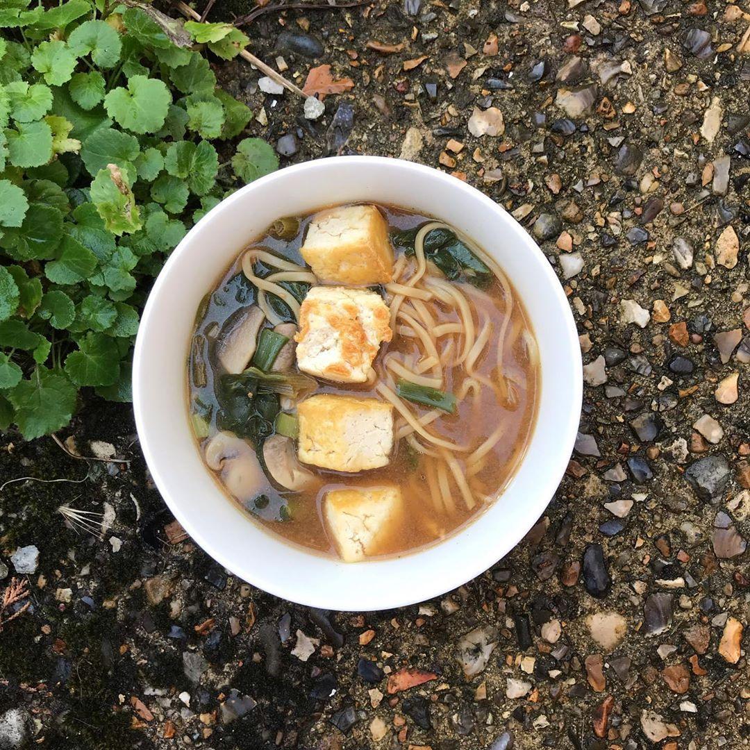 Ramen with Tofu! 😋 🍜